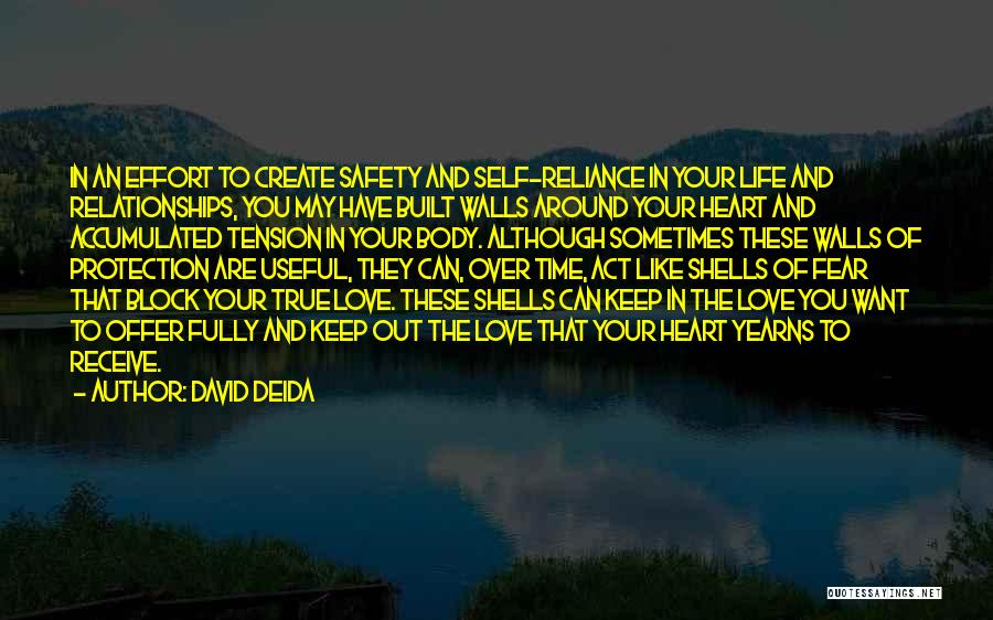 Safety And Protection Quotes By David Deida