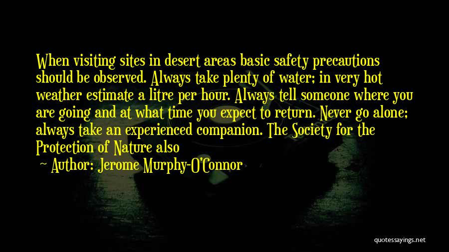 Safety And Protection Quotes By Jerome Murphy-O'Connor