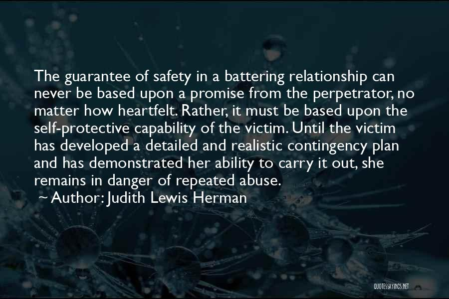 Safety And Protection Quotes By Judith Lewis Herman
