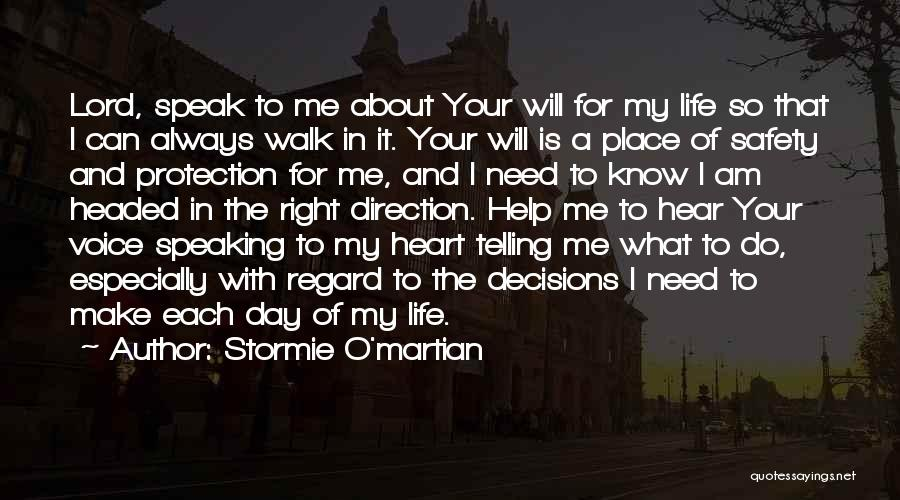 Safety And Protection Quotes By Stormie O'martian