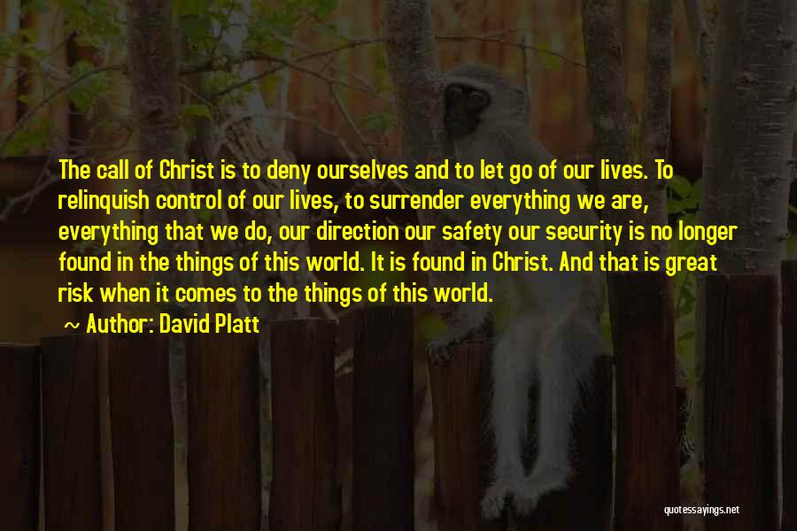 Safety And Risk Quotes By David Platt