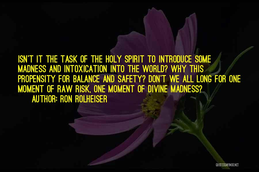 Safety And Risk Quotes By Ron Rolheiser