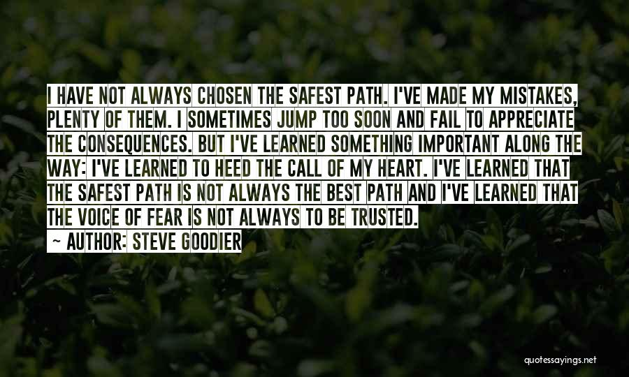 Safety And Risk Quotes By Steve Goodier