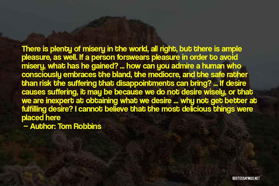 Safety And Risk Quotes By Tom Robbins