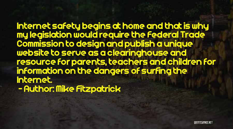 Safety On The Internet Quotes By Mike Fitzpatrick