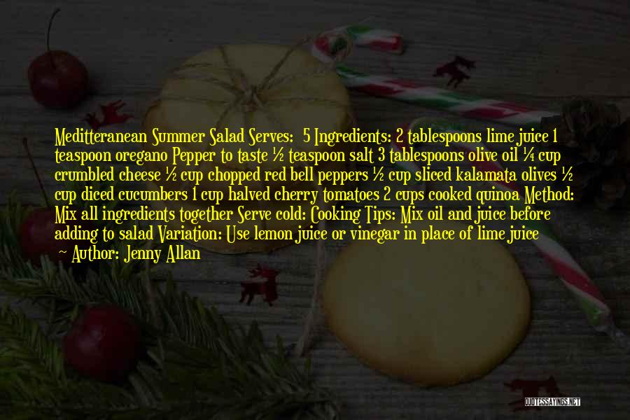 Salad Quotes By Jenny Allan