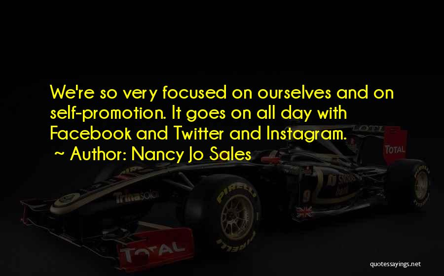 Sales Promotion Quotes By Nancy Jo Sales