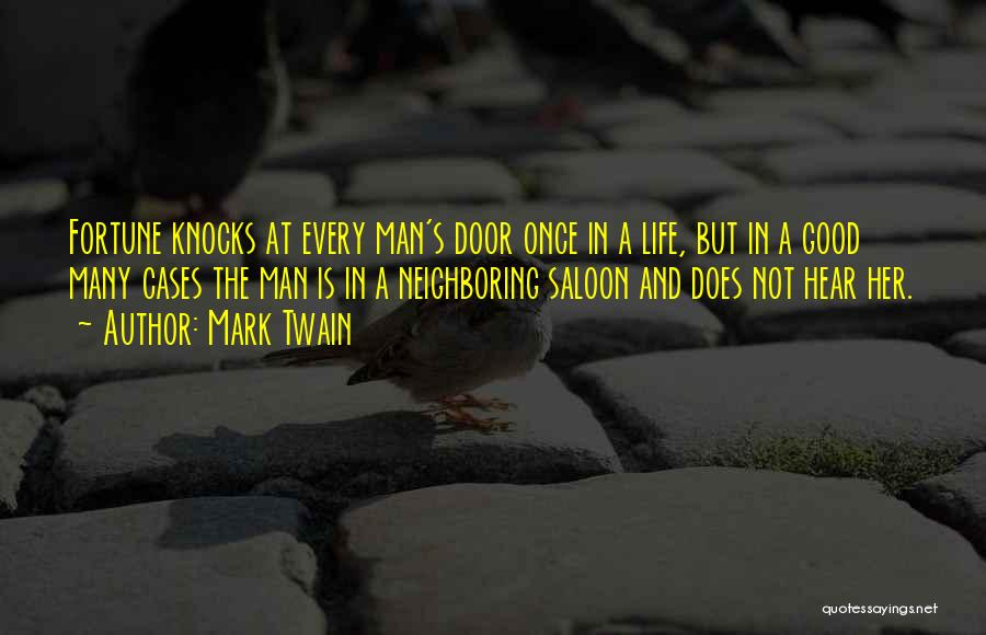 Saloon Quotes By Mark Twain
