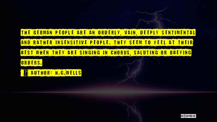 Saluting Quotes By H.G.Wells