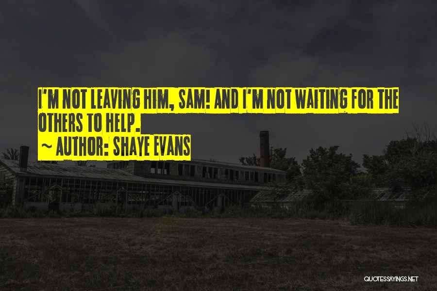 Sam Evans Quotes By Shaye Evans