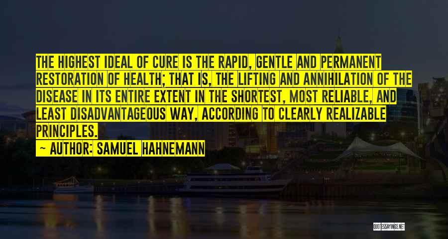 Samuel Hahnemann Quotes 1949954
