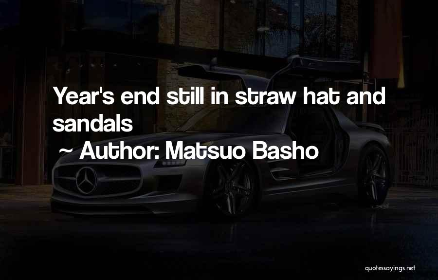 Sandals Quotes By Matsuo Basho