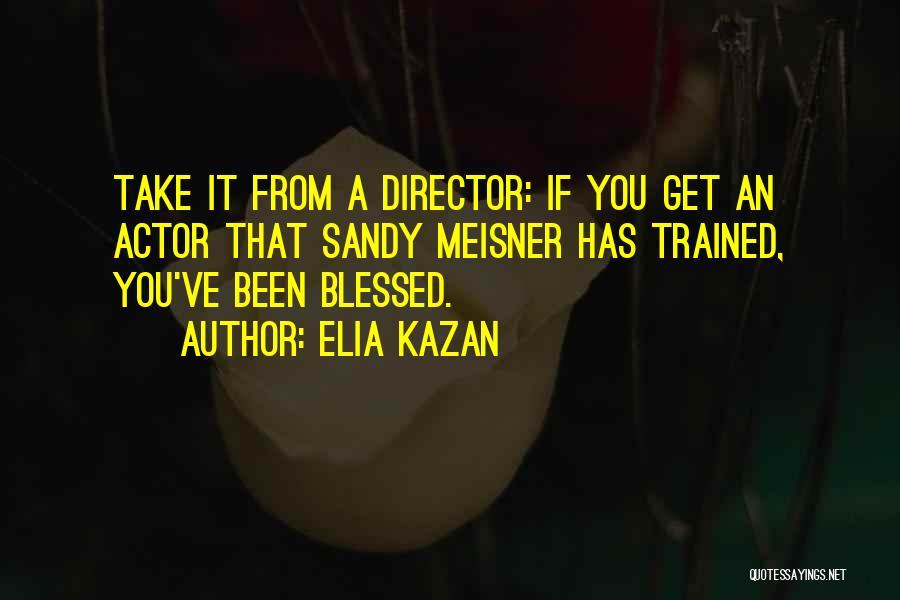 Sandy Meisner Quotes By Elia Kazan