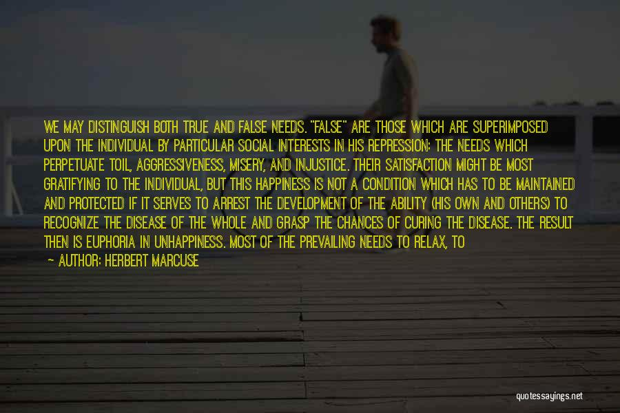 Satisfaction Love Quotes By Herbert Marcuse
