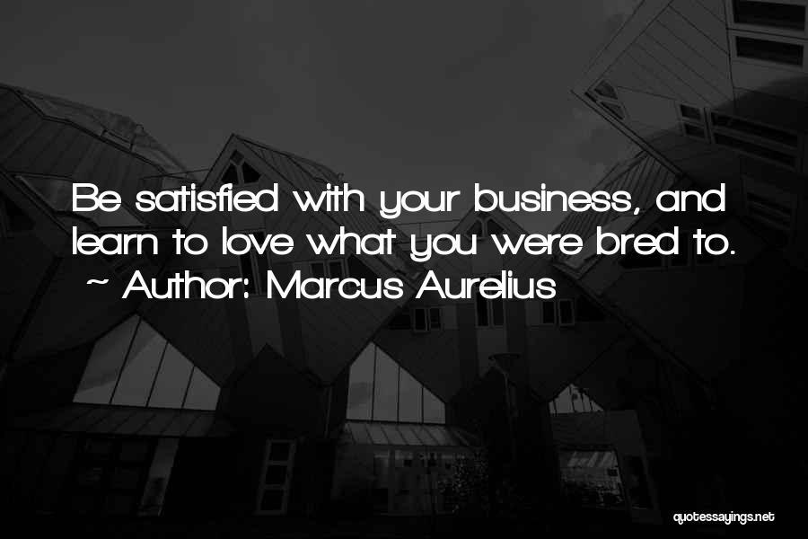 Satisfaction Love Quotes By Marcus Aurelius