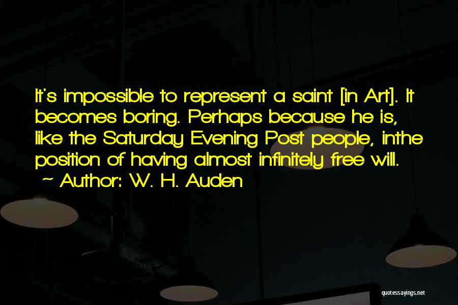 Saturday Evening Quotes By W. H. Auden