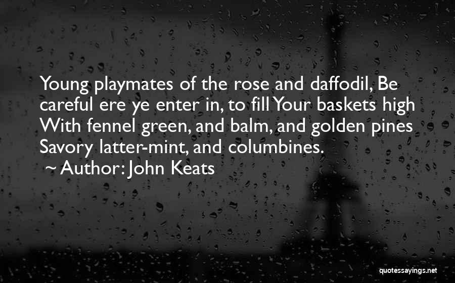 Savory Quotes By John Keats