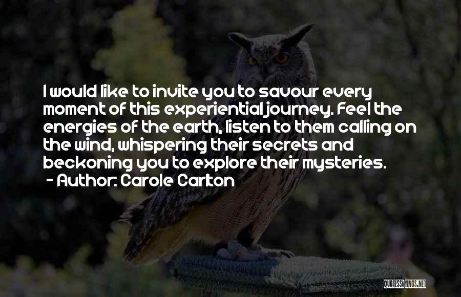Savour Every Moment Quotes By Carole Carlton