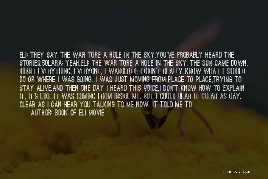 Say Anything The Movie Quotes By Book Of Eli Movie