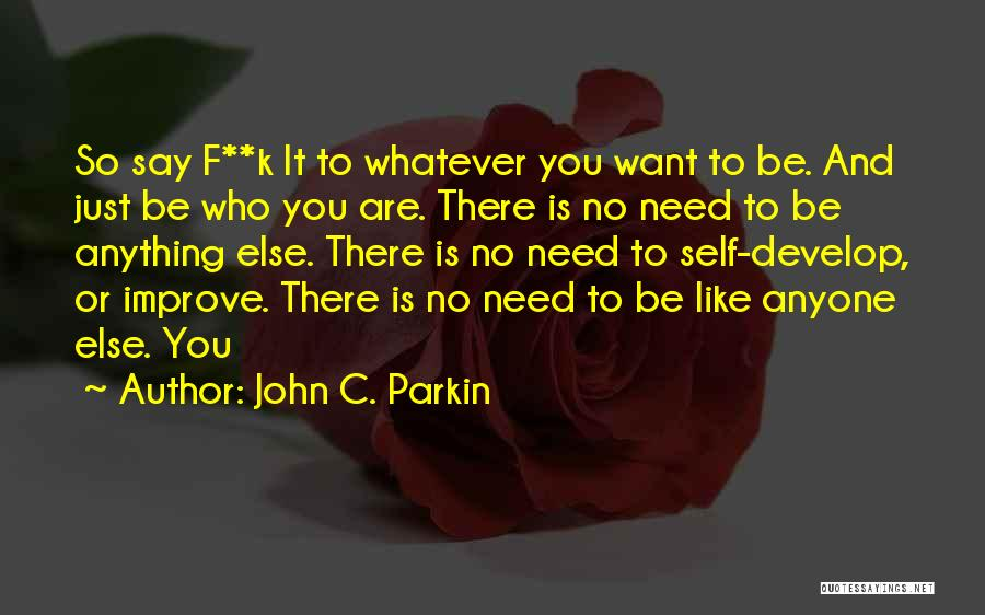 Say Anything You Want Quotes By John C. Parkin