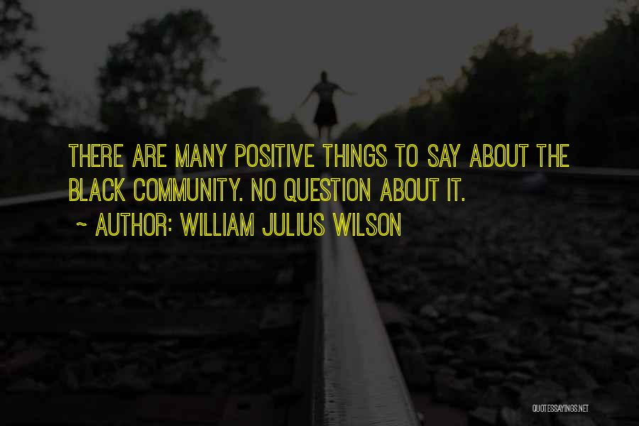 Say Positive Things Quotes By William Julius Wilson
