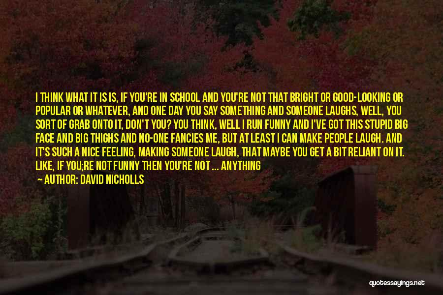 Say Something Funny Quotes By David Nicholls