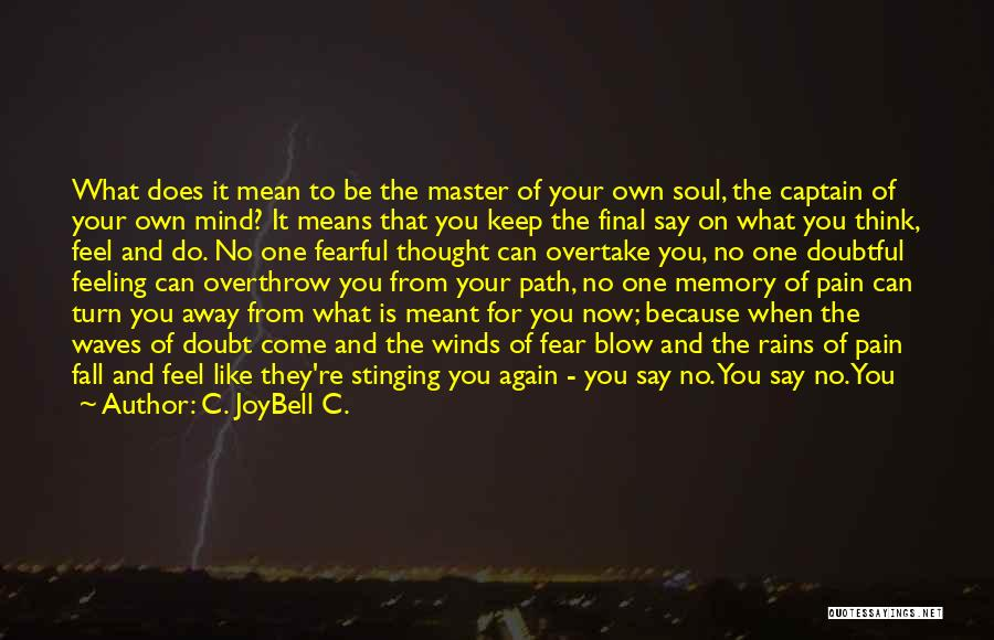 Say What You Feel And Mean What You Say Quotes By C. JoyBell C.