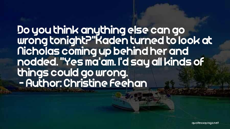 Say Wrong Things Quotes By Christine Feehan