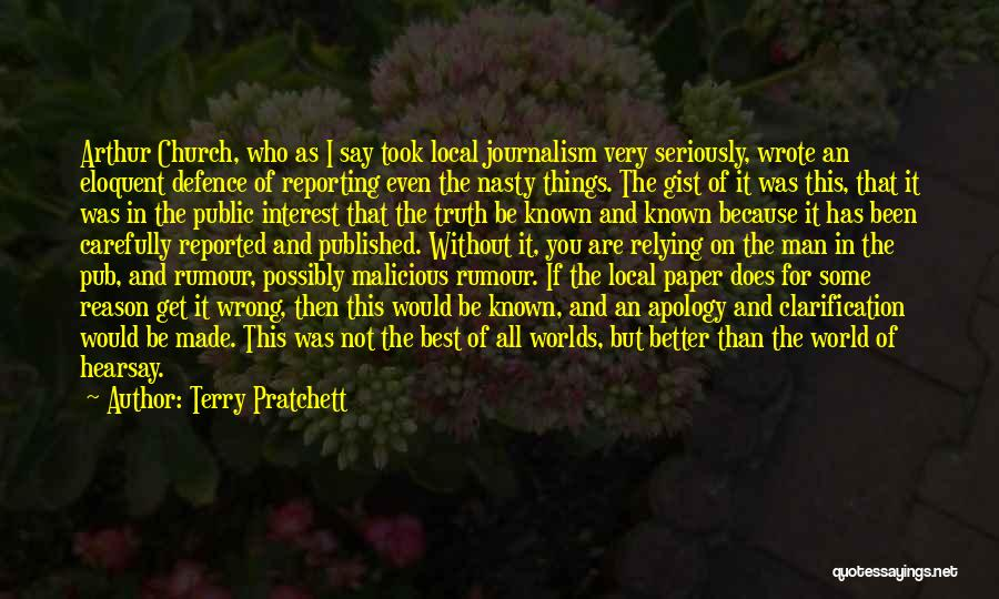 Say Wrong Things Quotes By Terry Pratchett