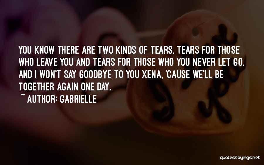 Say You'll Never Go Quotes By Gabrielle