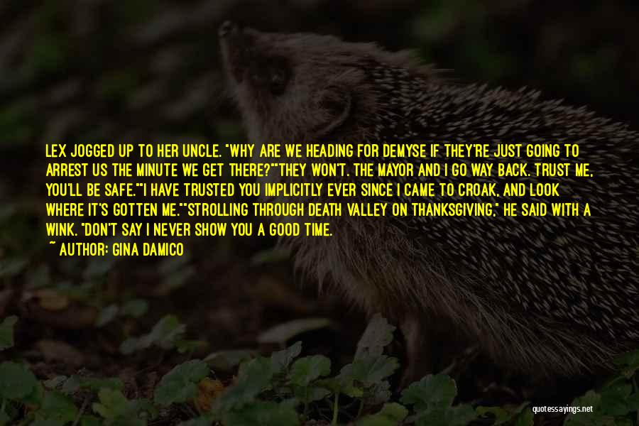 Say You'll Never Go Quotes By Gina Damico