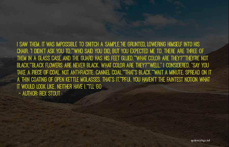 Say You'll Never Go Quotes By Rex Stout