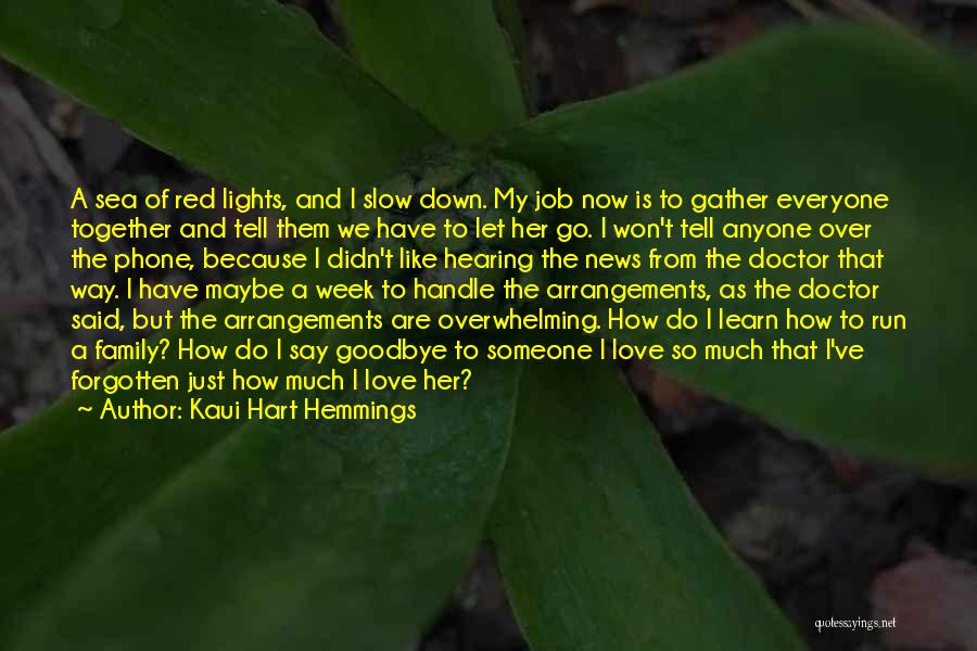 Saying Goodbye To Your Family Quotes By Kaui Hart Hemmings