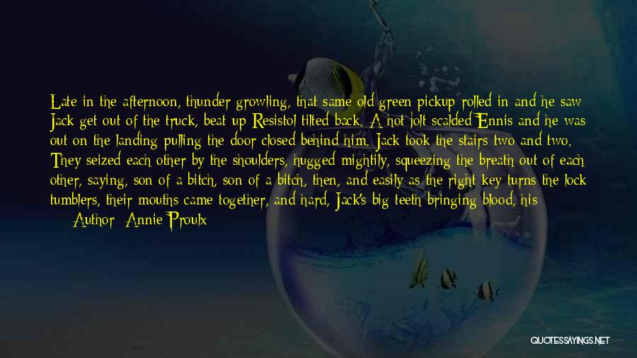 Saying Things Behind Someone's Back Quotes By Annie Proulx