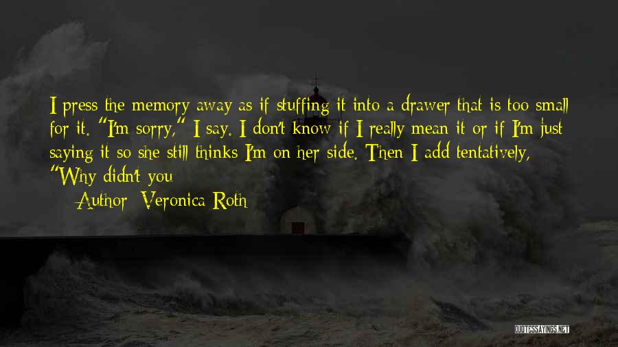 Saying Things We Don't Mean Quotes By Veronica Roth
