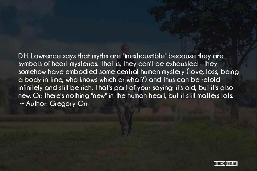 Saying What's In Your Heart Quotes By Gregory Orr