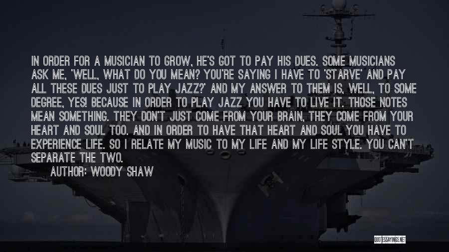 Saying What's In Your Heart Quotes By Woody Shaw
