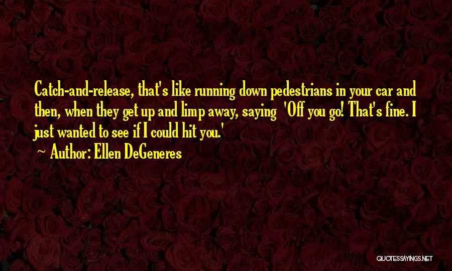 Saying You're Fine Quotes By Ellen DeGeneres