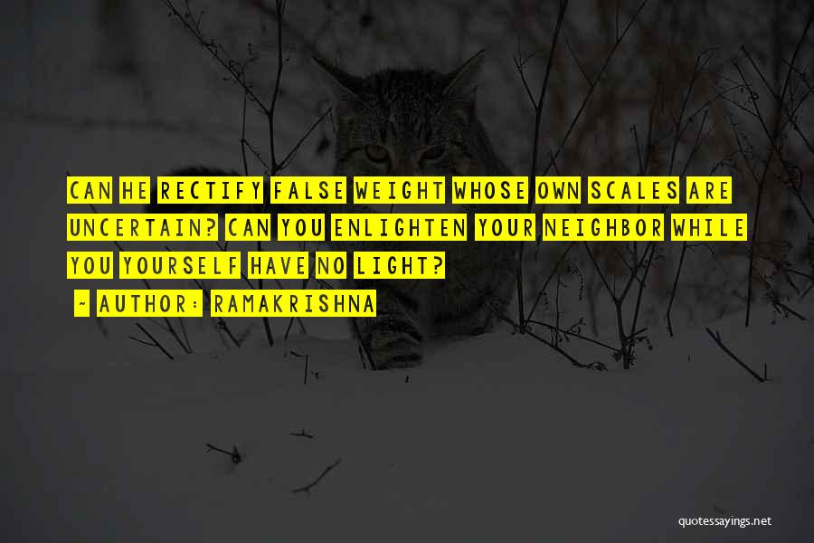 Scales And Weight Quotes By Ramakrishna