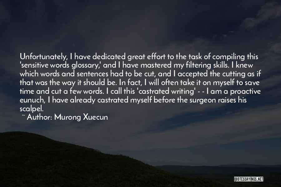 Scalpel Quotes By Murong Xuecun