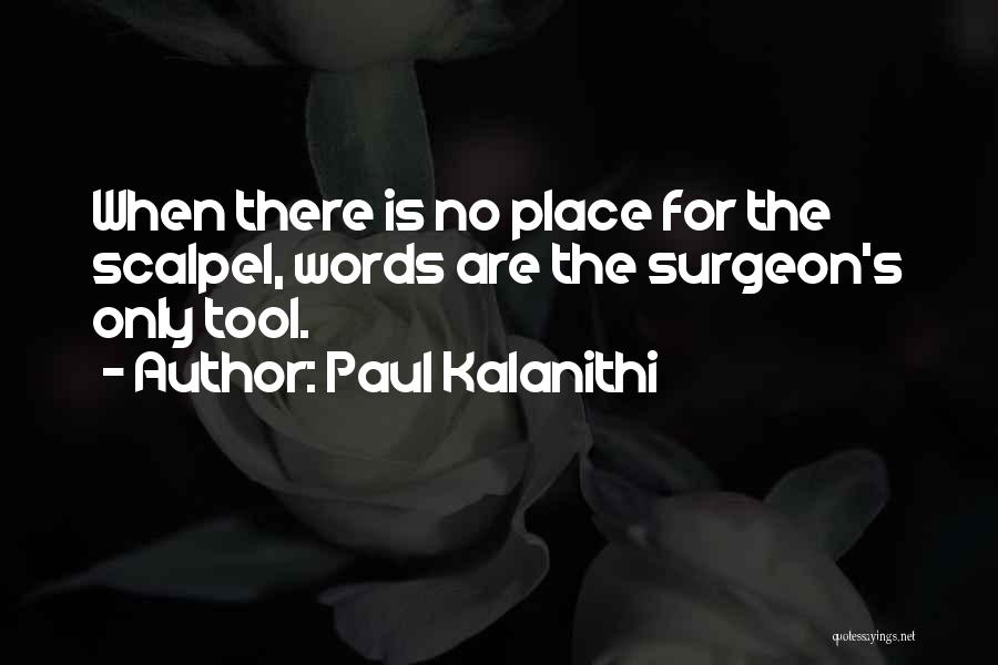 Scalpel Quotes By Paul Kalanithi