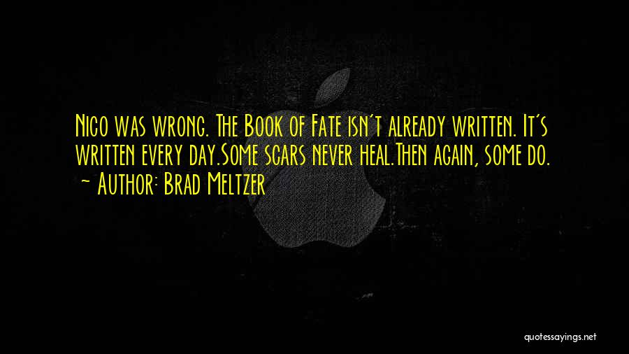 Scars Heal Quotes By Brad Meltzer