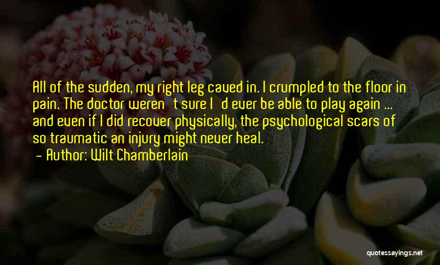 Scars Heal Quotes By Wilt Chamberlain