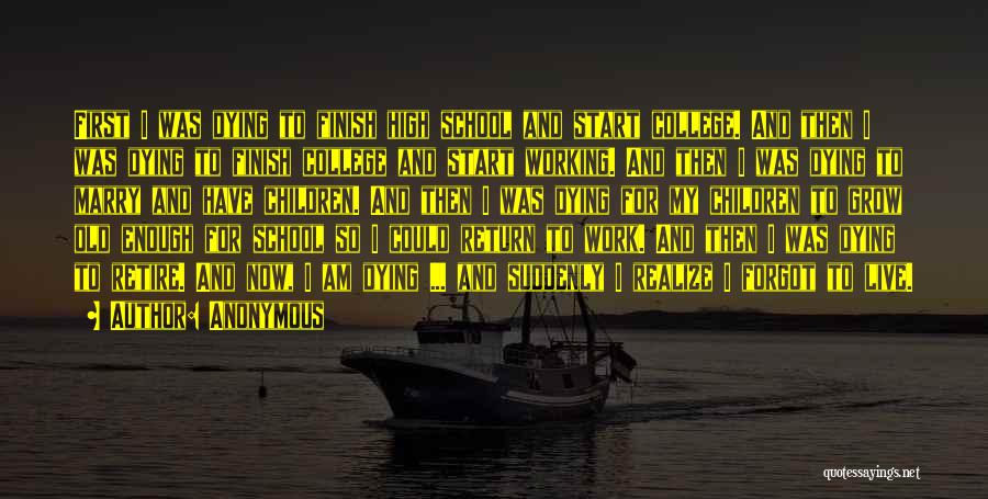 School Life Quotes By Anonymous
