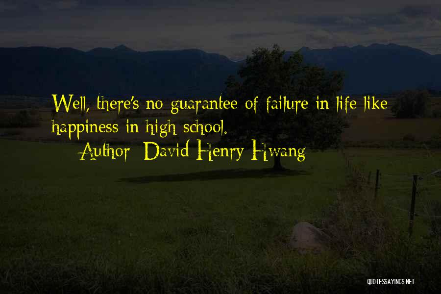 School Life Quotes By David Henry Hwang