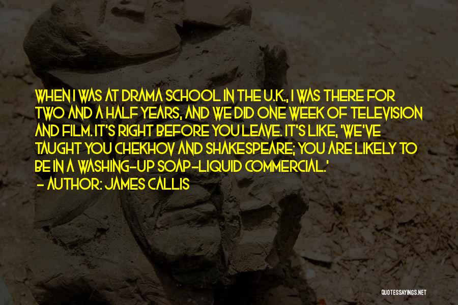 School Quotes By James Callis