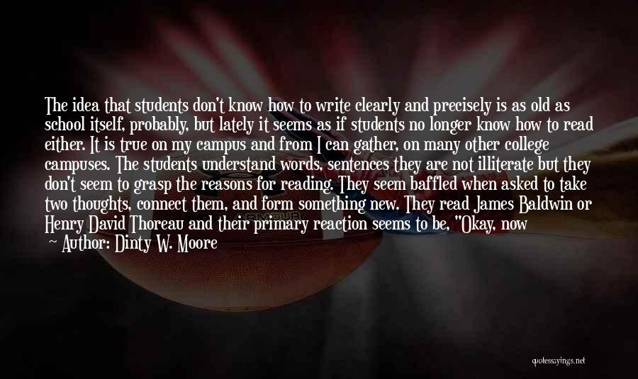School Ready Quotes By Dinty W. Moore