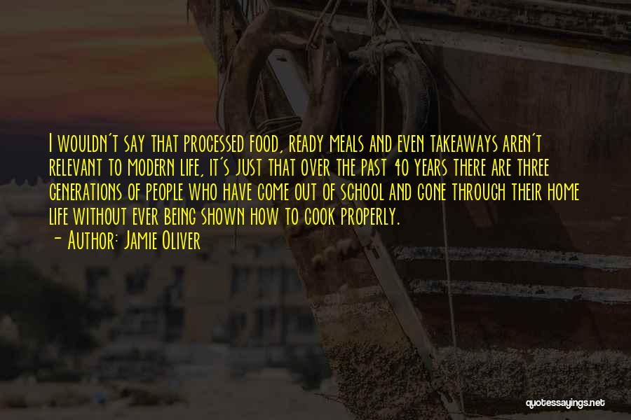 School Ready Quotes By Jamie Oliver