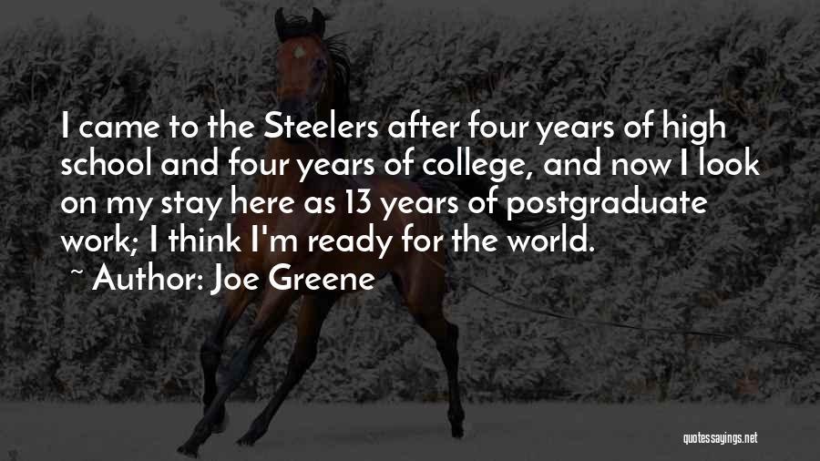 School Ready Quotes By Joe Greene