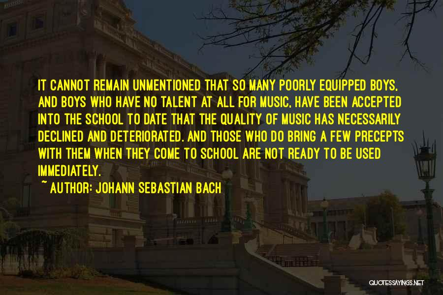 School Ready Quotes By Johann Sebastian Bach